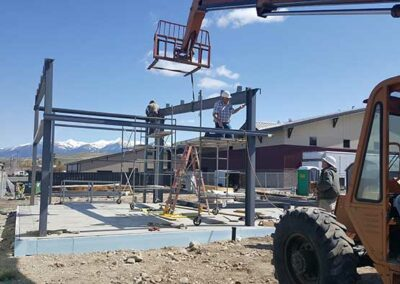 Structural steel frame install