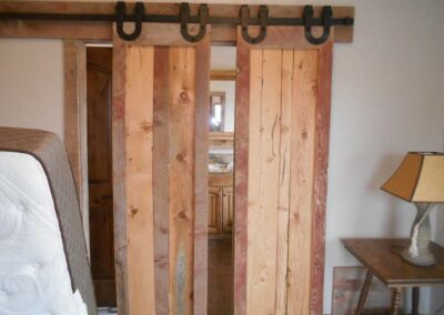 Reclaimed barnwood door