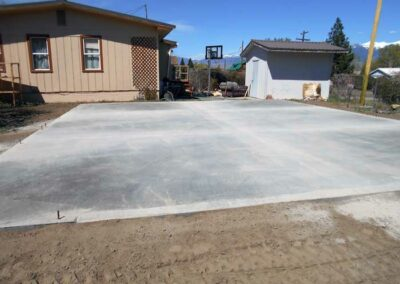 New garage floor with mono/footings