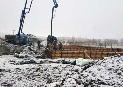 New home foundation wall pour