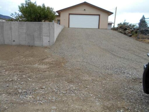 New Property Line Retaining Wall, Garage & Renovations