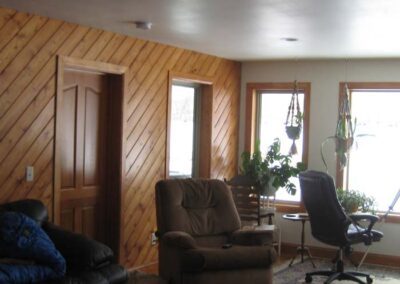 Clear pine on interior walls