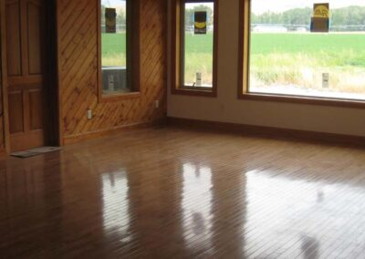 Interior hard wood floors