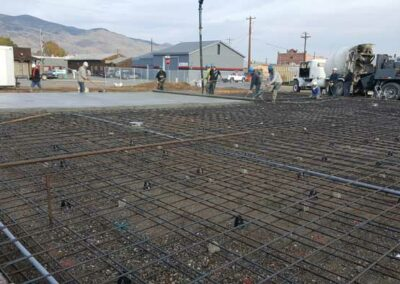 Placement of 220 yards of concrete