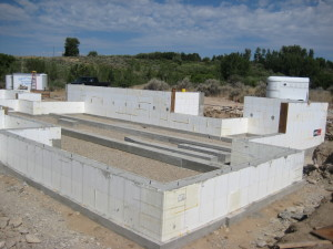 New ICF foundation for new home construction