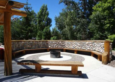 Exterior fire pit area