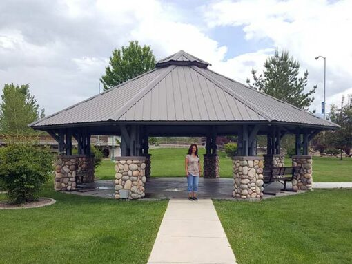 Veteran's Park Gazebo in Salmon Idaho