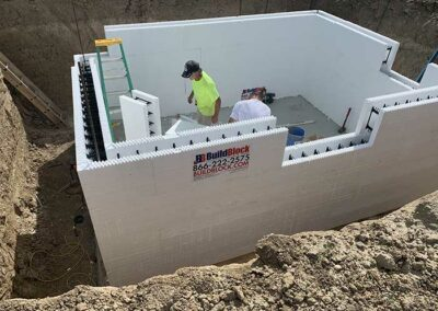 BuildBlock ICF mechanical room for house