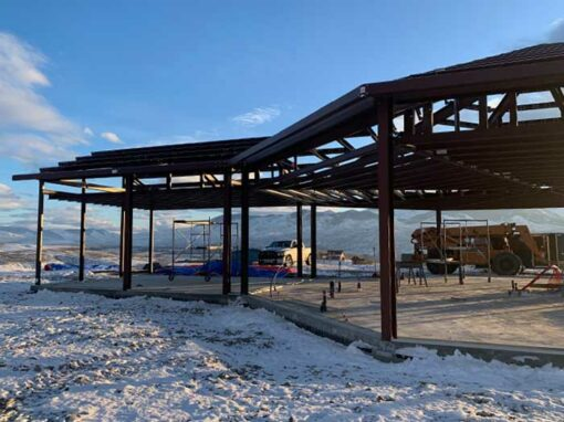 New All Steel Home Near Salmon Idaho