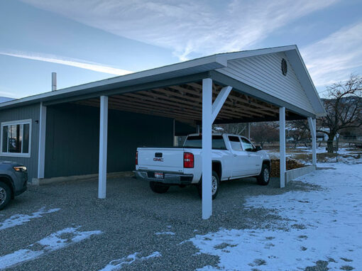 New Construction of a Carport in Salmon Idaho
