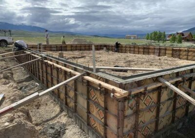 Foundation walls utilizing the Symons Forming Systems