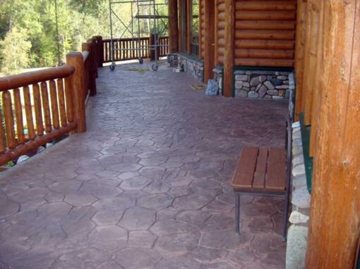 Custom Stamped Concrete Patio for Country Home