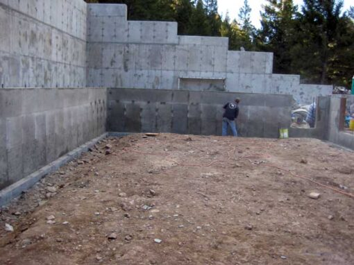 Residential Retaining Wall and Footings At Williams Lake Idaho