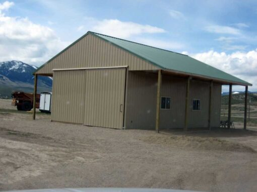 New Pole Barn Near Salmon Idaho